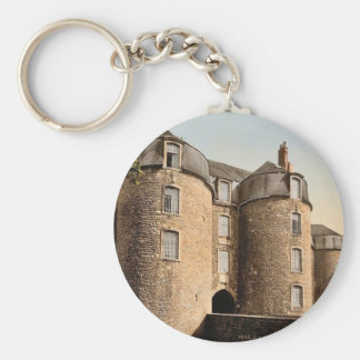 The old castle, Boulogne, France classic Photochro Basic Round Button Key Ring