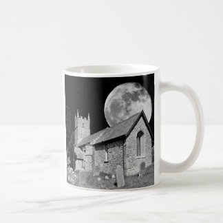 The old church and moon mugs