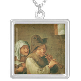 The Old Couple Silver Plated Necklace