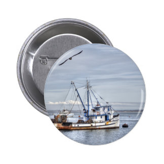 The Old Fishing Boat Pinback Buttons