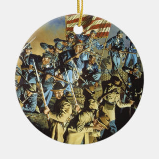 The Old Flag Never Touched the Ground Christmas Ornament