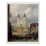 The Old Market Place at Prague, 1881 (oil on canva Poster