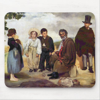 The old musician by Edouard Manet Mouse Pad