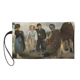The Old Musician by Edouard Manet Wristlet Clutches