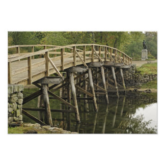The Old North Bridge, Minute Man National Art Photo