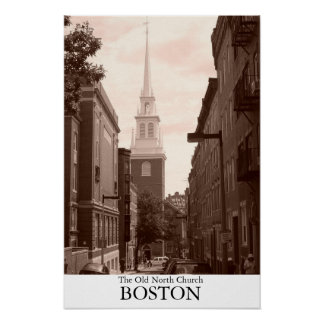 The Old North Church in Boston, Massachusetts Poster