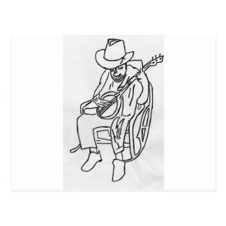 The OLD PLAYER OF COUNTRY jpg MUSIC Postcard