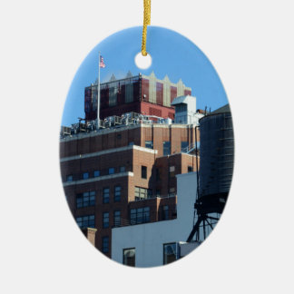 The Old Port Authority Building Ceramic Oval Decoration