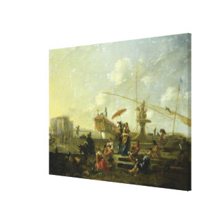 The Old Port of Genoa Canvas Print
