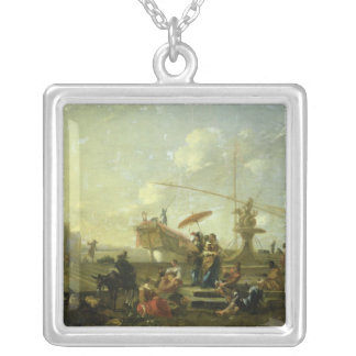 The Old Port of Genoa Silver Plated Necklace