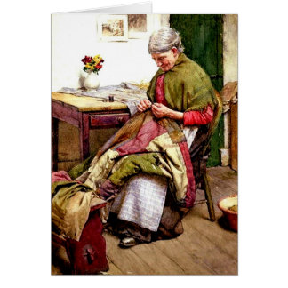 The Old Quilt - Walter Langley Card