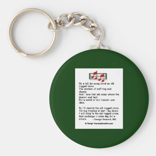 The Old Rugged Cross Basic Round Button Key Ring