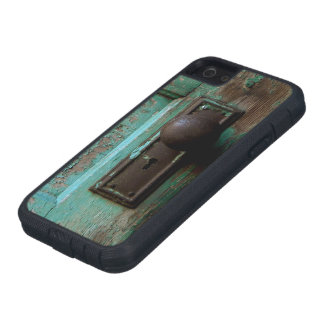 The old rusty blue door iPhone 5 cases