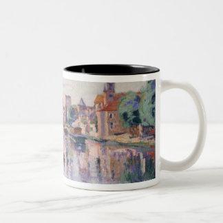 The Old Samois, c.1900 (oil on canvas) Two-Tone Coffee Mug