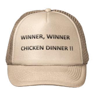 THE OLD  SAYING, WINNER WINNER CHICKEN DINNER CAP