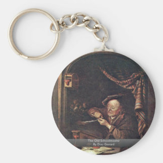 The Old Schoolmaster By Dou Gerard Basic Round Button Key Ring