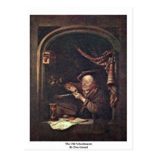 The Old Schoolmaster By Dou Gerard Postcard