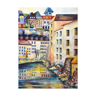 The Old Town in Stockholm Canvas Print