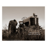 The Old Tractor Customisable Print