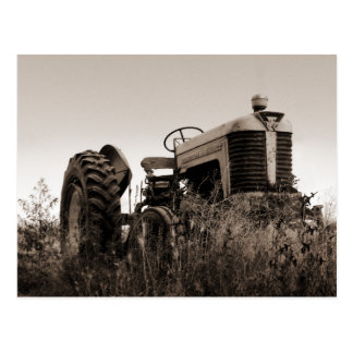 The Old Tractor Postcard