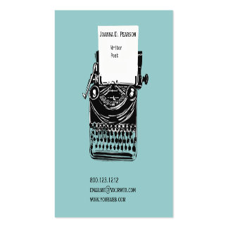 The Old Typewriter  Writer  Editor Publishing Pack Of Standard Business Cards