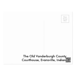 The Old Vanderburgh County Courthouse Postcard