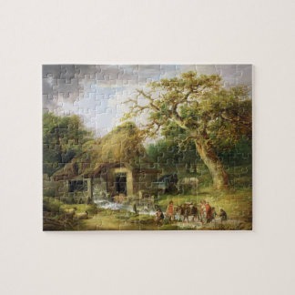 The Old Water Mill, 1790 (oil on canvas) Puzzle