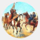 The Old West Round Sticker