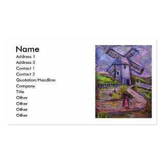 THE OLD WINDMILL, Name, Address 1, Address 2, C... Pack Of Standard Business Cards