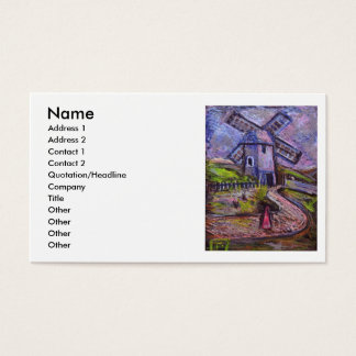 THE OLD WINDMILL, Name, Address 1, Address 2, C... Business Card