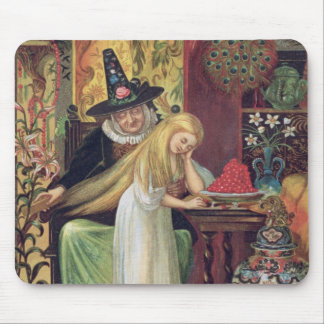 The Old Witch combing Gerda's hair with a golden c Mouse Mat
