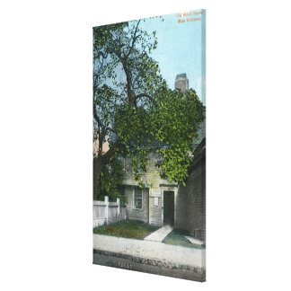 The Old Witch House, Main Entrance Canvas Print