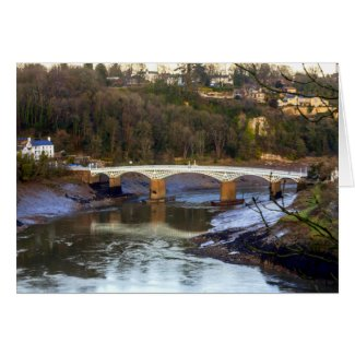 The Old Wye Bridge, Chepstow, Monmouthshire Card