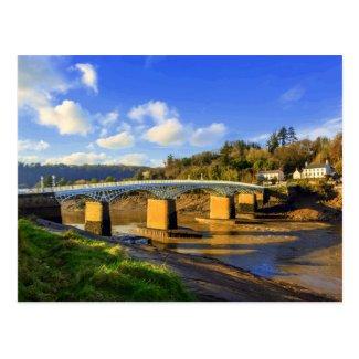 The Old Wye Bridge, Chepstow Postcard