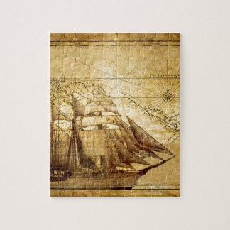 The Oldest World Map Ship Jigsaw Puzzle
