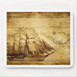 The Oldest World Map Ship Mouse Pads