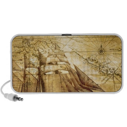 The Oldest World Map Ship Travelling Speakers