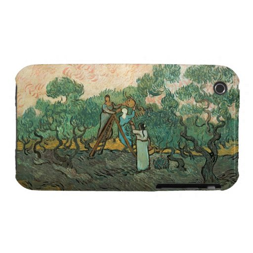 The Olive Pickers, Saint-Remy, 1889 (oil on canvas iPhone 3 Cover
