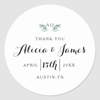 The Olive Spring Wedding Sticker