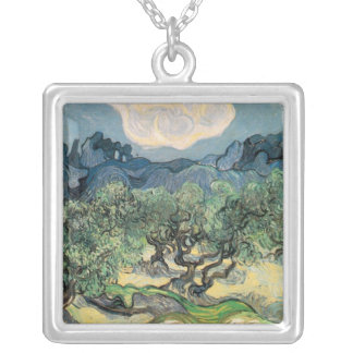 The Olive Tree Vincent van Gogh Silver Plated Necklace