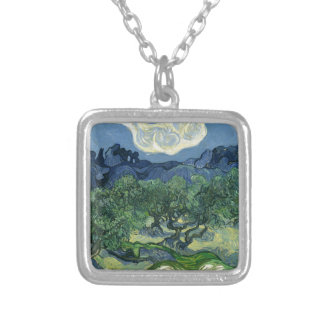 The Olive Trees by Van Gogh Fine Art Necklace