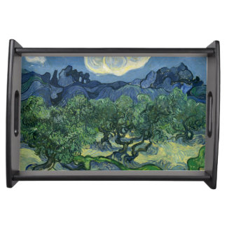 The Olive Trees by Van Gogh Fine Art Serving Tray