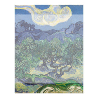 The Olive Trees by Vincent Van Gogh Flyers