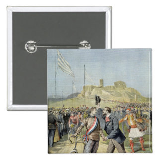 The Olympic Games in Athens 15 Cm Square Badge