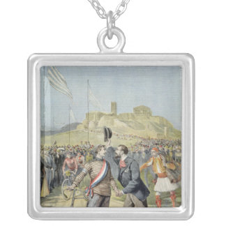 The Olympic Games in Athens Silver Plated Necklace