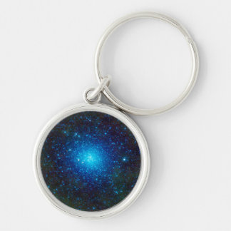The Omega Centauri Star Cluster Silver-Colored Round Key Ring
