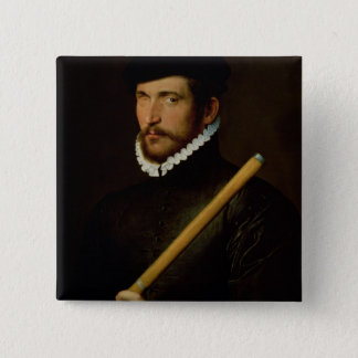 The One-Eyed Flautist, 1566 15 Cm Square Badge