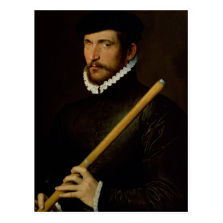 The One-Eyed Flautist, 1566 Postcard
