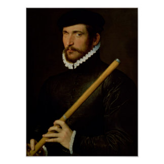 The One-Eyed Flautist, 1566 Poster
