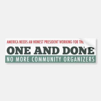 The One Term President Bumper Sticker